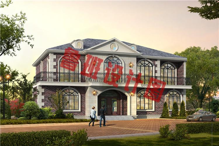 带8间卧室的自建二层别墅设计效果图