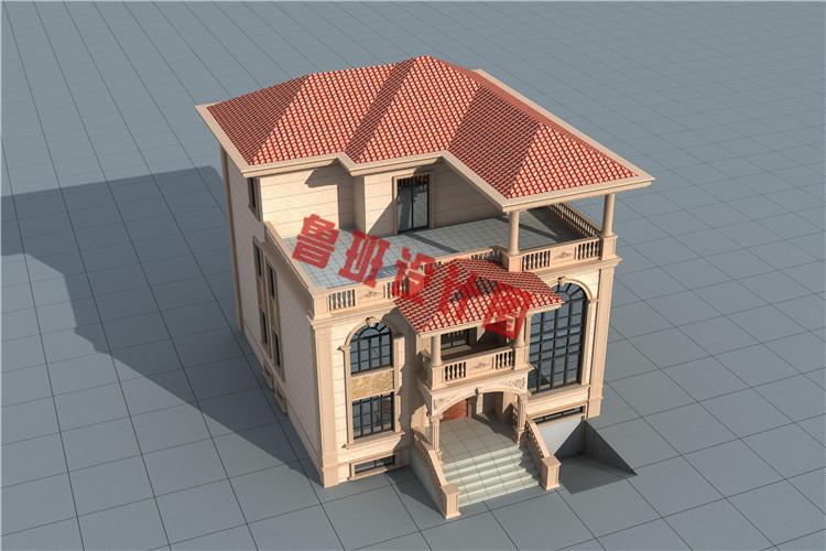 欧式三层别墅设计外观图