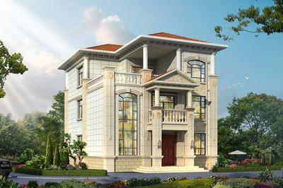 三层豪宅设计图欧式别墅户型,外观图片好看