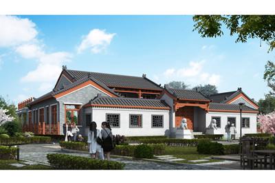 仿古中式四合院农村自建设计图,外观配色让人赏心悦目
