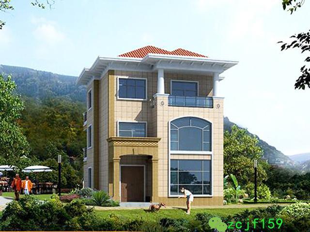 3款三层别墅设计图施工图,室内采光极好,适合农村建筑!