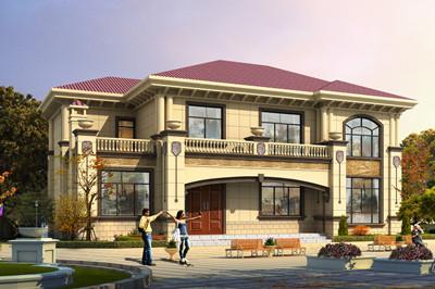 新农村16X11米二层自建房别墅设计图,外观精致美观