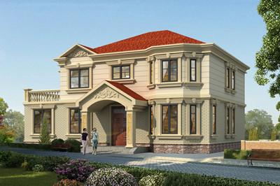 独立厨房农村二层自建房别墅设计图,外观漂亮精致