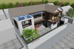 200平基地农村自建别墅设计图纸,露台庭院俱全。