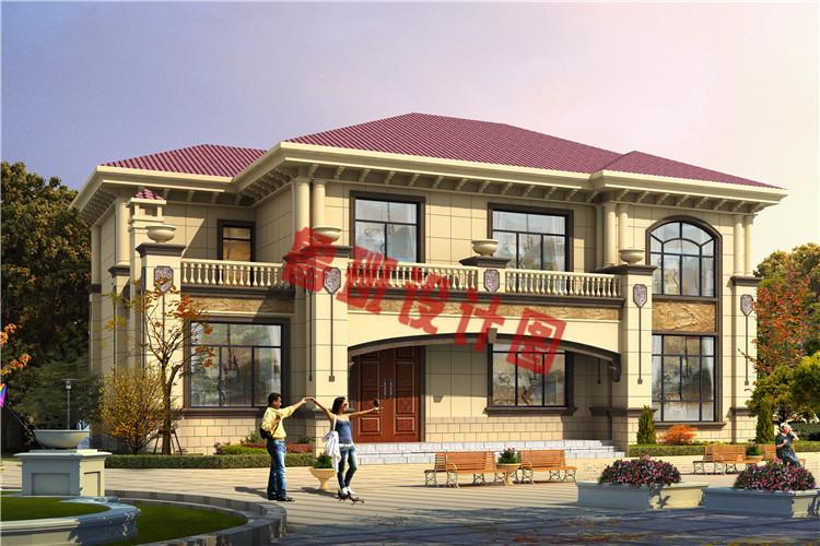 新农村16X11米二层自建别墅设计效果图