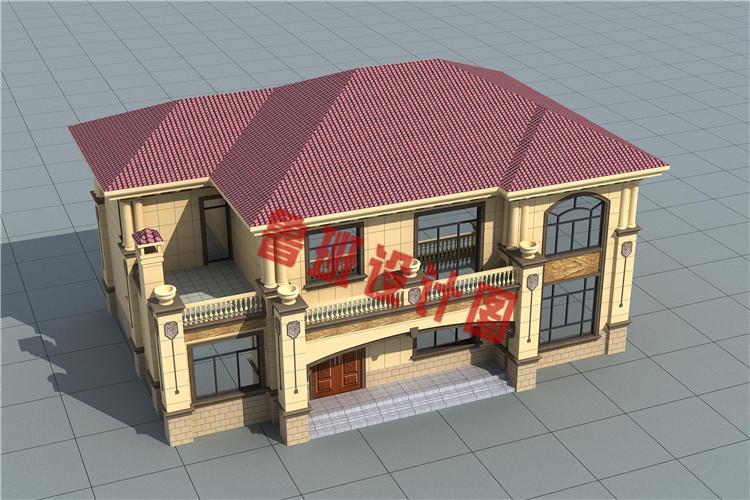 新农村16X11米二层自建别墅设计图片