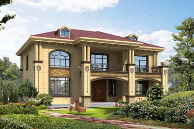170平方米二层欧式别墅设计图,简单外观给人一种大气华美感