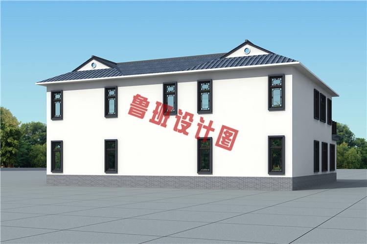 2019乡村二层四合院款式别墅设计图片