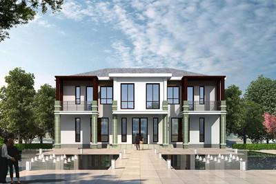 小五间二层乡村现代别墅住宅设计图,时尚大气又美观