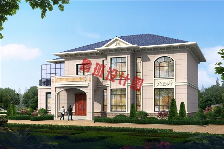 18X11米二层欧式别墅户型设计效果图
