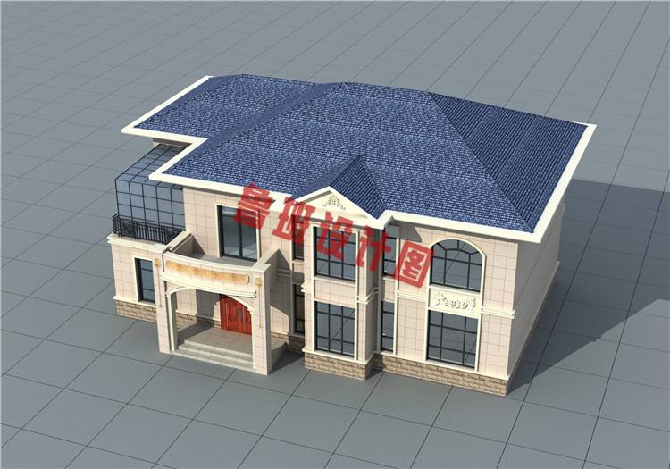 18X11米二层欧式别墅户型设计外观图