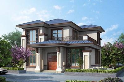 13万二层农村自建别墅设计图,占地100-140平方米