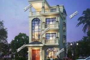 面宽7米的别墅设计图纸,地基小也能建别墅。