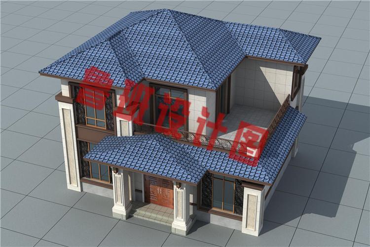13万左右二层农村自建别墅设计鸟瞰图