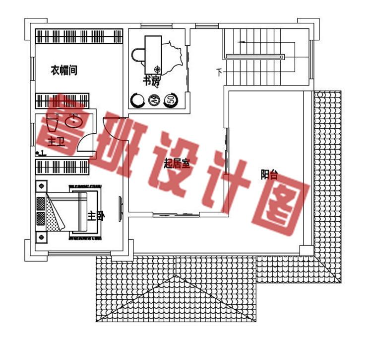 13万左右二层农村自建别墅设计二层户型图