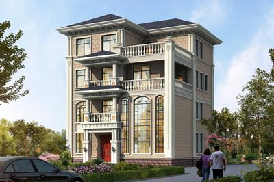 12X12米新款农村四层别墅自建房设计图,户型实用