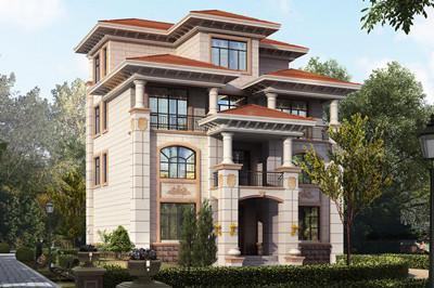 占地120平方米左右欧式自建别墅设计图,这款别墅大气豪华
