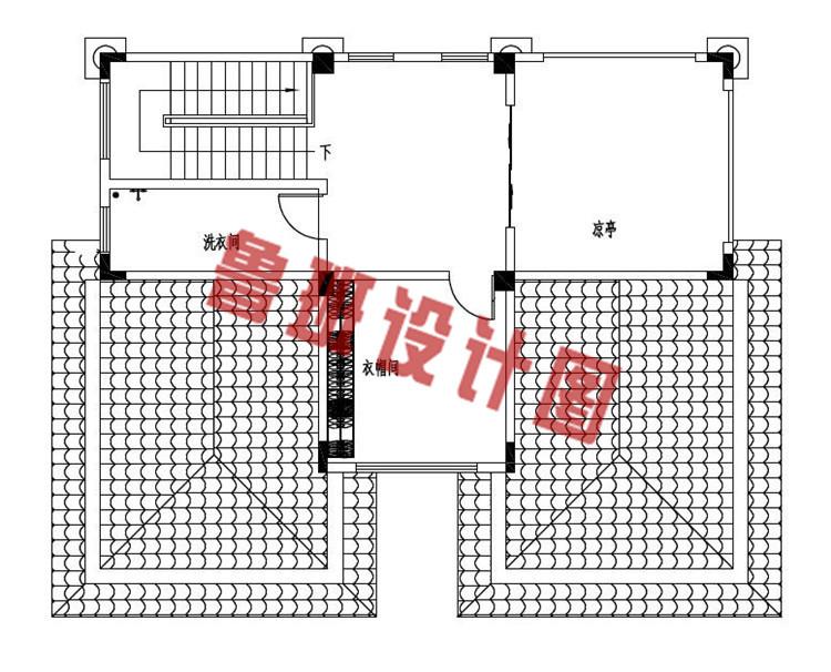 120平方米左右欧式自建别墅设计四层户型图