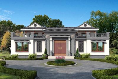 240平方米左右新中式四合院二层别墅设计图,带天井庭院