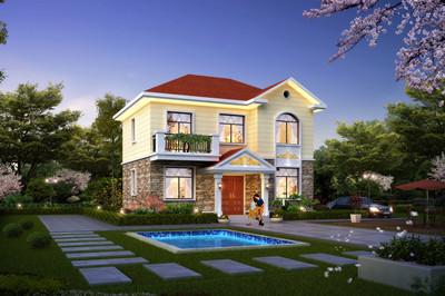 经济小户型二层小楼别墅设计图,造价低,施工