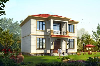 占地100平内简单二层农村住房小楼设计图,实用
