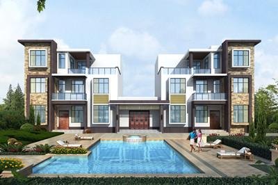 现代风格三层双拼住宅楼设计图,年轻人肯定喜欢