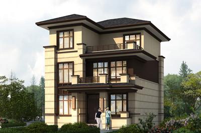 造价25万左右三层别墅住房设计图,占地95平方米