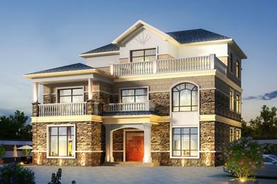 占地170平方米左右自建三层别墅设计图,带KTV+台球厅