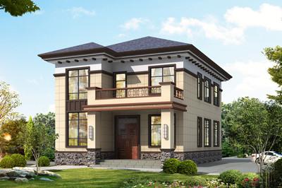 造价17万-23万农村自建别墅设计图,占地105平方米