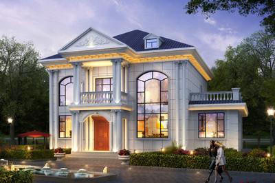 带土灶房二层自建别墅设计图,适合农村自建