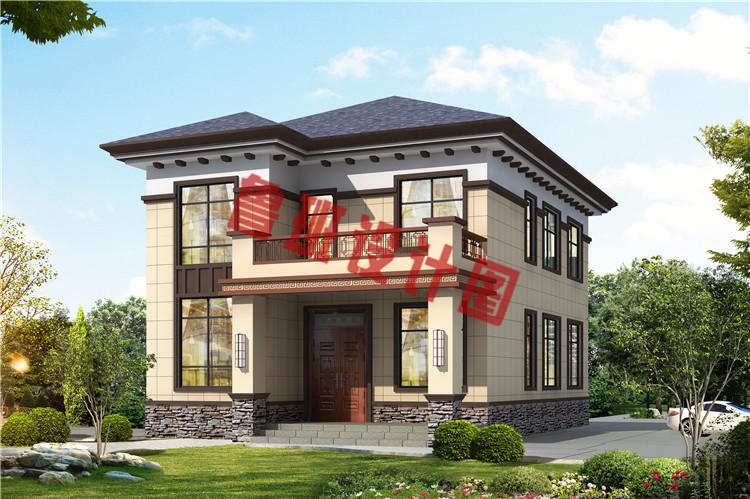 造价17万左右农村自建别墅设计效果图