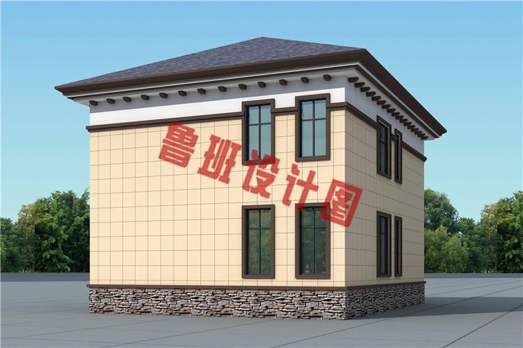 造价17万左右农村自建别墅设计侧面图