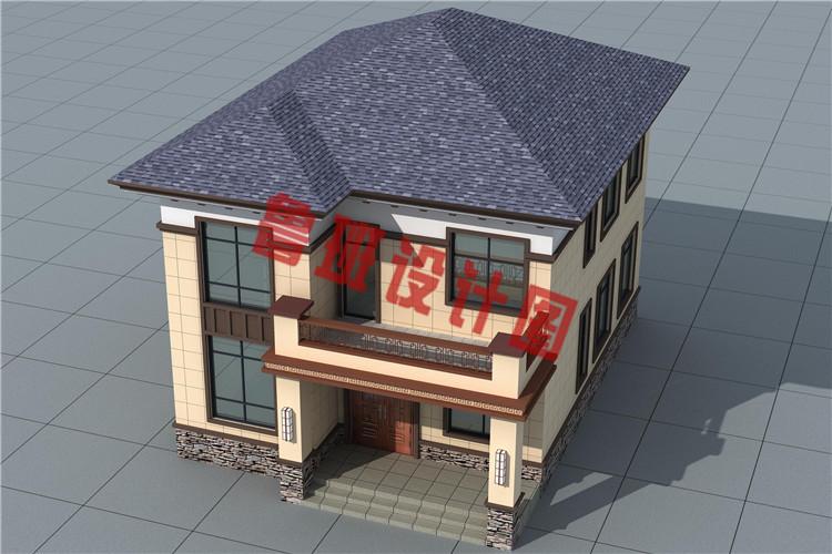 造价17万左右农村自建别墅设计鸟瞰图