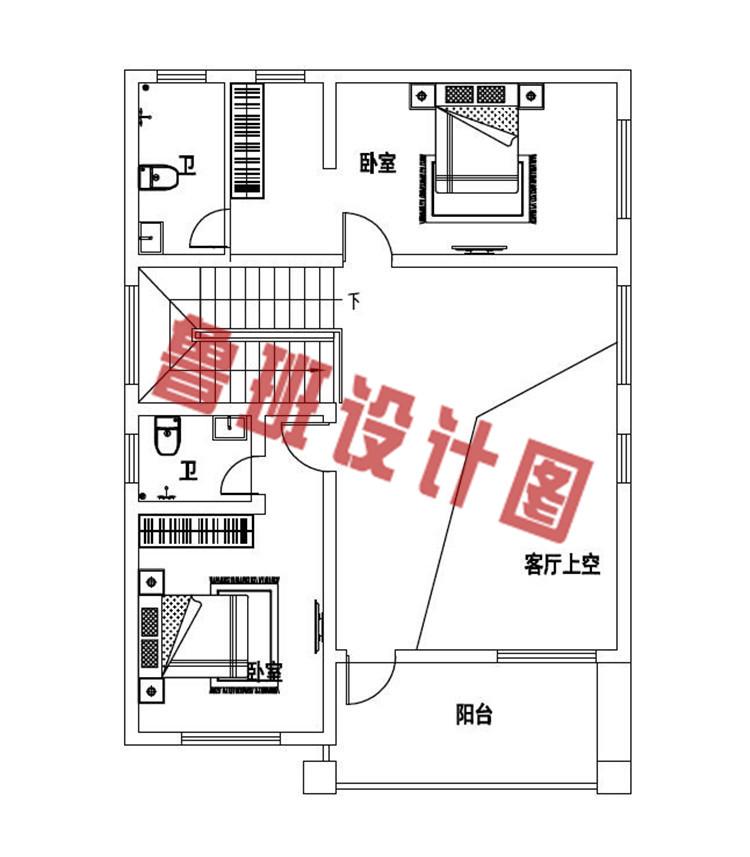 造价17万左右农村自建别墅设计二层户型图