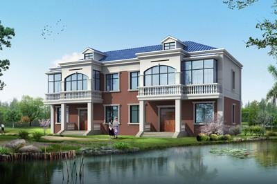 35万左右双拼二层自建别墅设计图,单户占110平方米