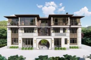 农村160万新中式别墅设计图纸,大气胜千万豪宅!