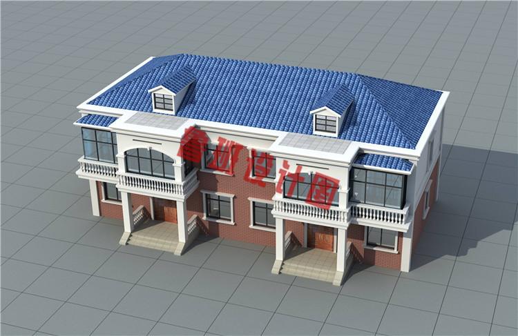 35万左右双拼二层自建别墅设计图片