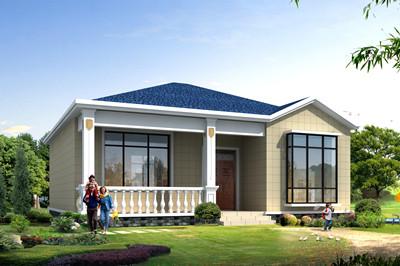 100平方米一层农村平房别墅设计图,造价经济,施工简单