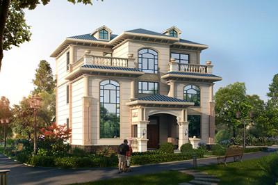农村三层复式别墅户型图,欧式大气风格外观图片