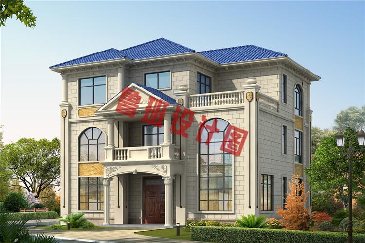 欧式三层带大露台自建别墅设计效果图