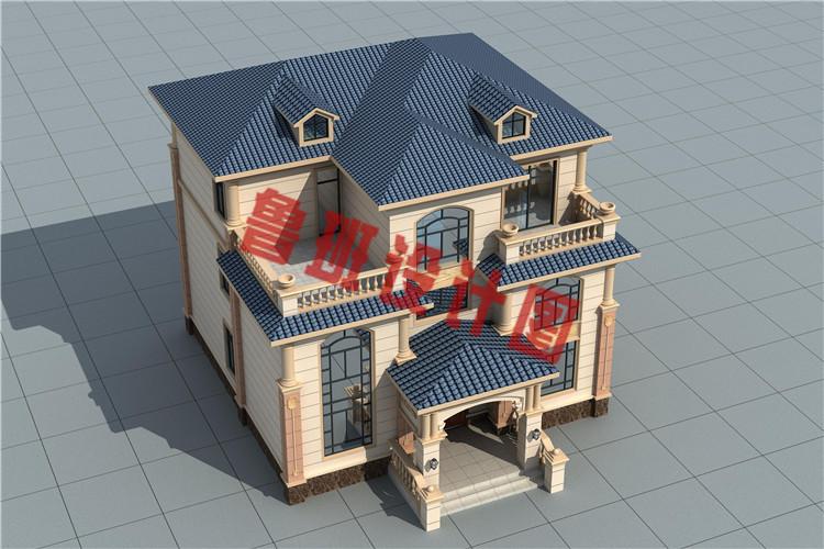 35万140平复式三层小楼设计外观图