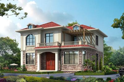 最漂亮的农村二层小楼设计图,欧式风格,12x12.5米
