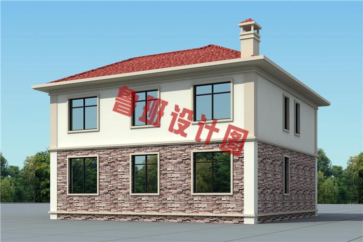 农村二层简单别墅设计外观图
