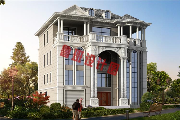 四层复式豪华欧式别墅设计效果图
