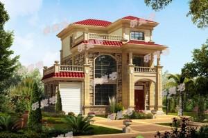 11x10米农村自建别墅设计方案图,自然大方,有质感。