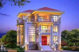 三层豪华别墅设计图纸,超级美观和气派!