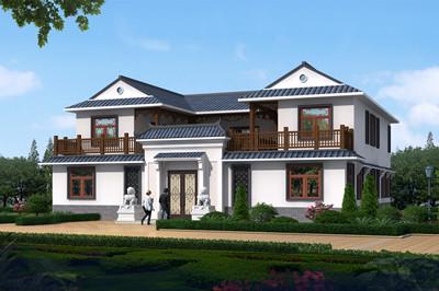 新款四合院别墅自建房设计户型平面图,农村传统中式风格