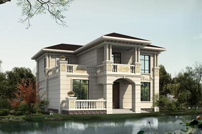三十万起两层别墅自建房屋设计图,外观时尚、漂亮
