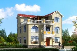 13x11米三层别墅设计方案,整体美观时尚。