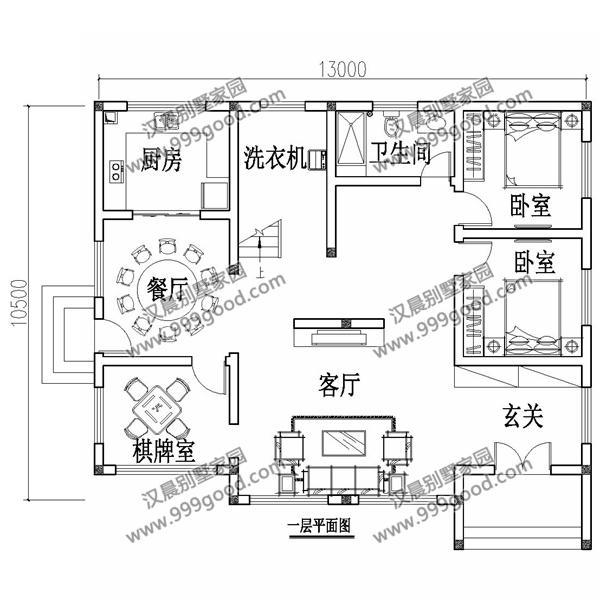 湖北谢先生自建2层新中式别墅,户型漂亮,大门和护栏拉低了档次